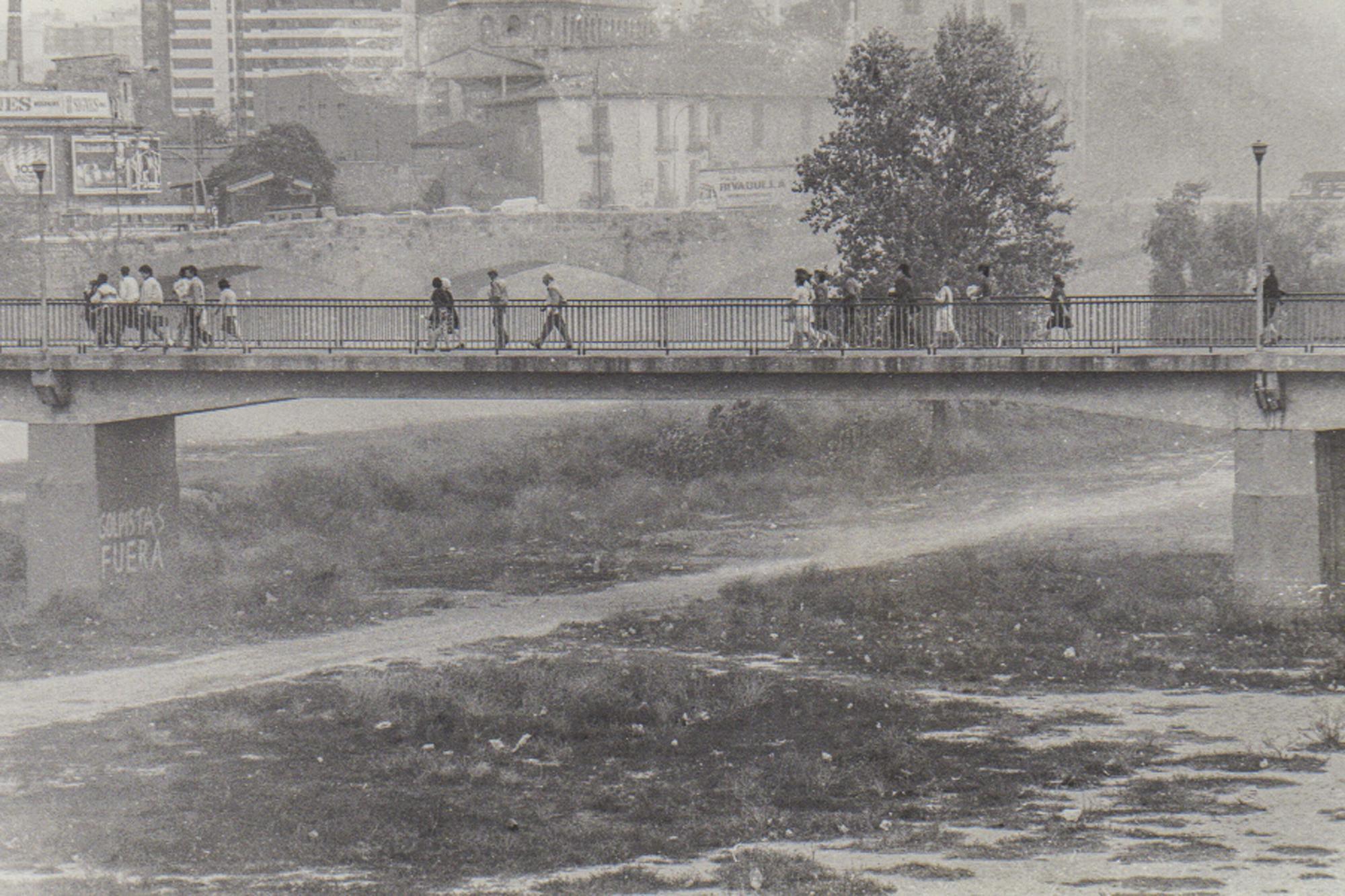 Así era el rio Turia en València antes de convertirse en un jardín