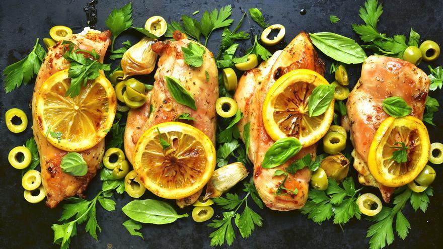 Carne asada con aceitunas