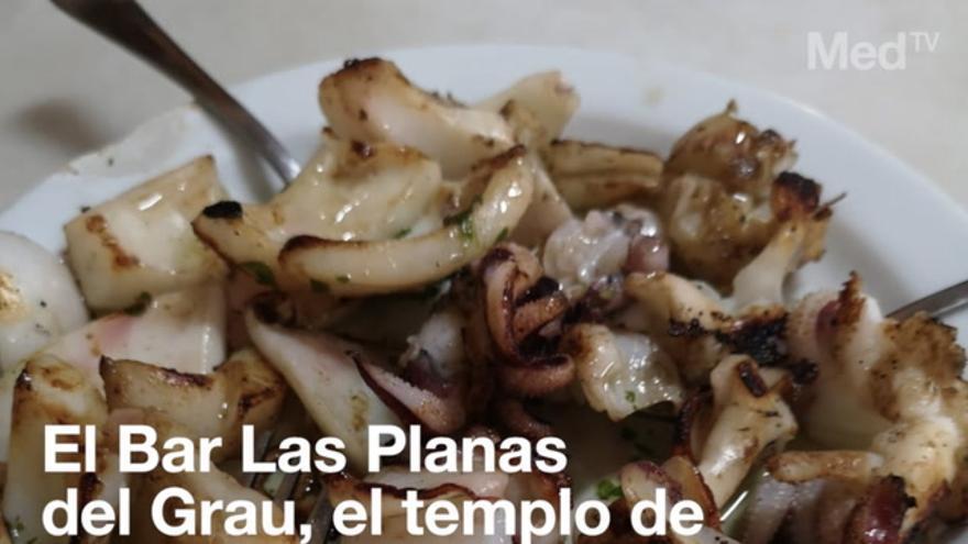 El Bar Las Planas del Grau, el templo de la sepia en Castellón
