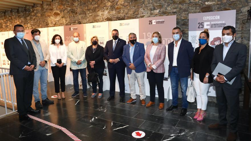 El oficio de exponer las noticias: La muestra 25 años de LA NUEVA ESPAÑA de las Cuencas llega a Mieres