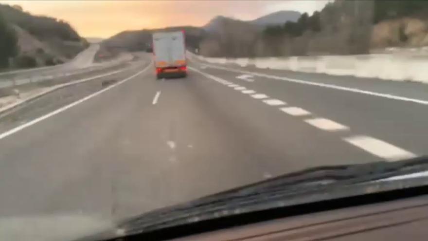 VÍDEO: Graban el accidente de un camión en directo
