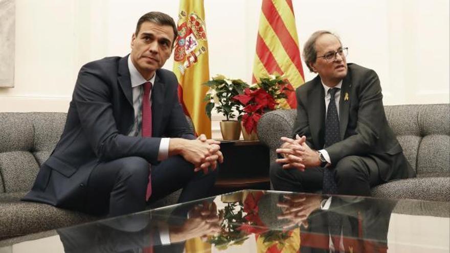 Pedro Sánchez se verá con Quim Torra en Barcelona a principios de febrero