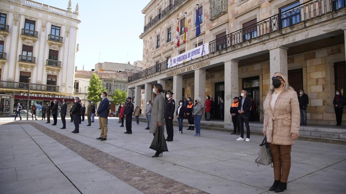 Concentración contra la lacra machista en Zamora.