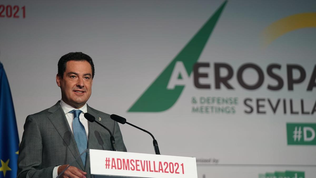 Juama Moreno durante su intervención en la ADM-Sevilla 2021