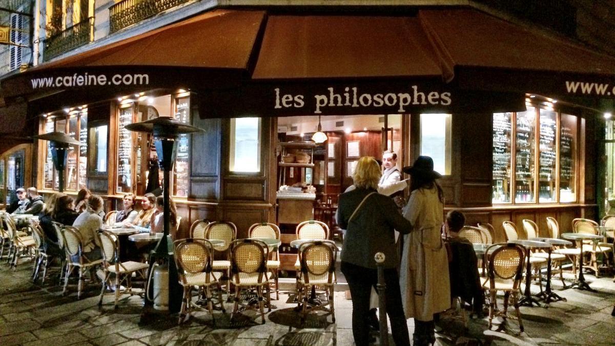 Les Philosophes en rue vieille du Temple.