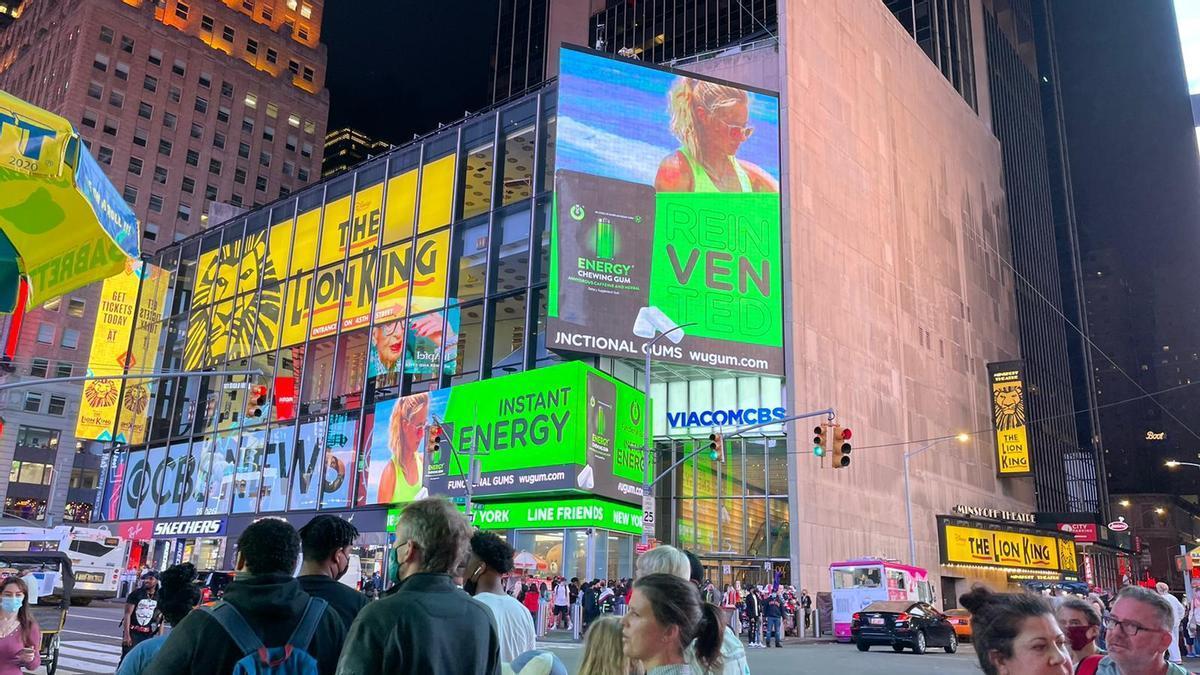 Anuncio de la marca en Times Square, en Nueva York.