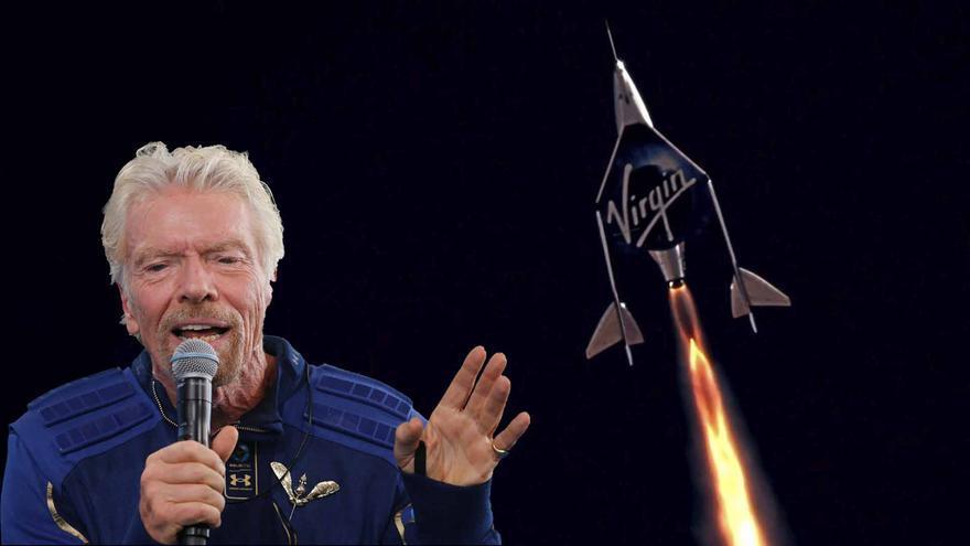 Richard Branson se convierte en el primer magnate en saltar al espacio