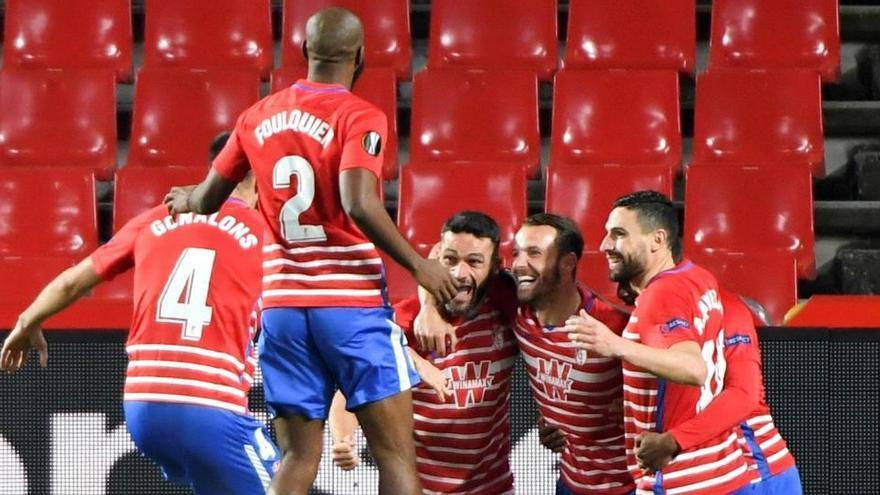 Molina y Soldado acercan al Granada a cuartos de final ante el Molde