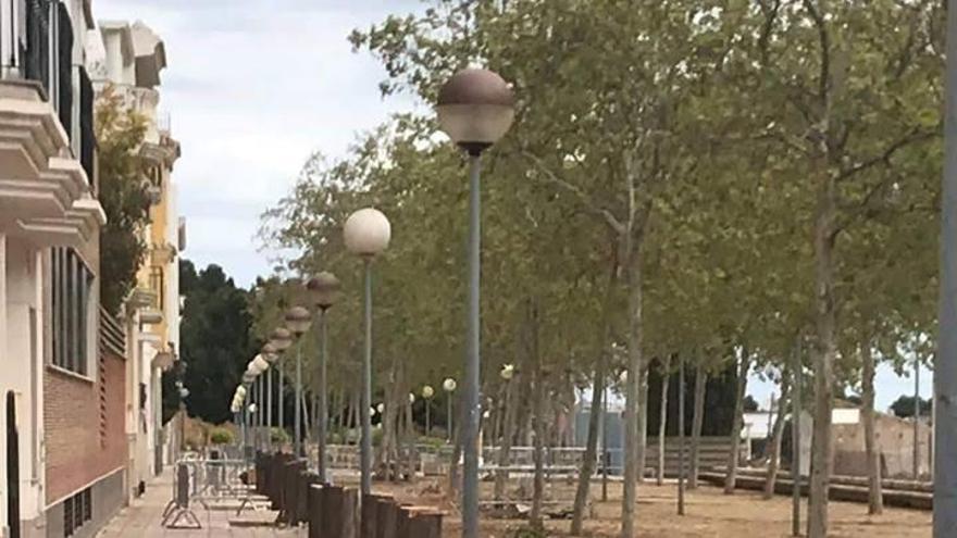 Tavernes corta los árboles dels Sequers que levantaban las aceras e invadían casas