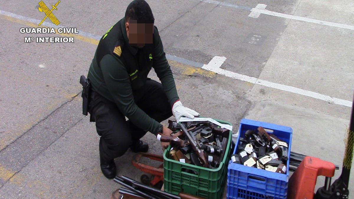 La Guardia Civil destruye más de 3.000 armas en 2019 procedentes de Murcia