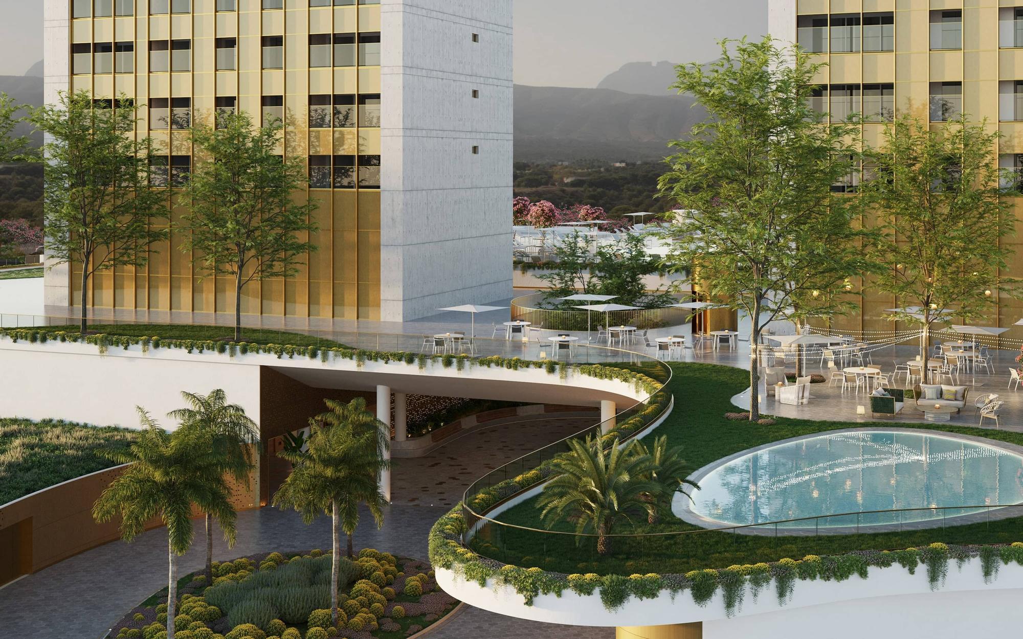 El edificio Intempo de Benidorm finalizará sus obras en el mes de julio