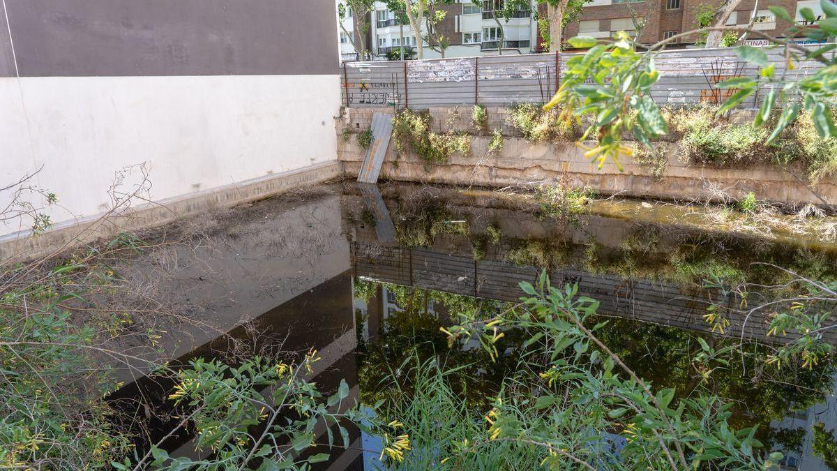 El solar inundado que ha generado problemas a los vecinos