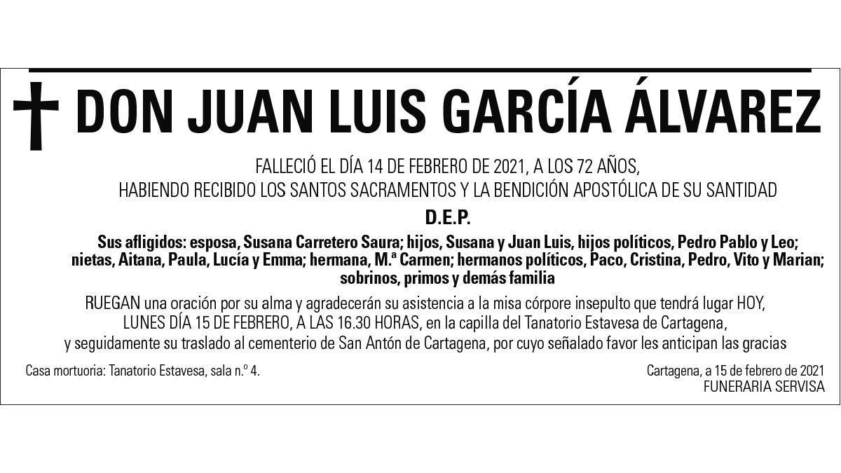 D. Juan Luis García Álvarez