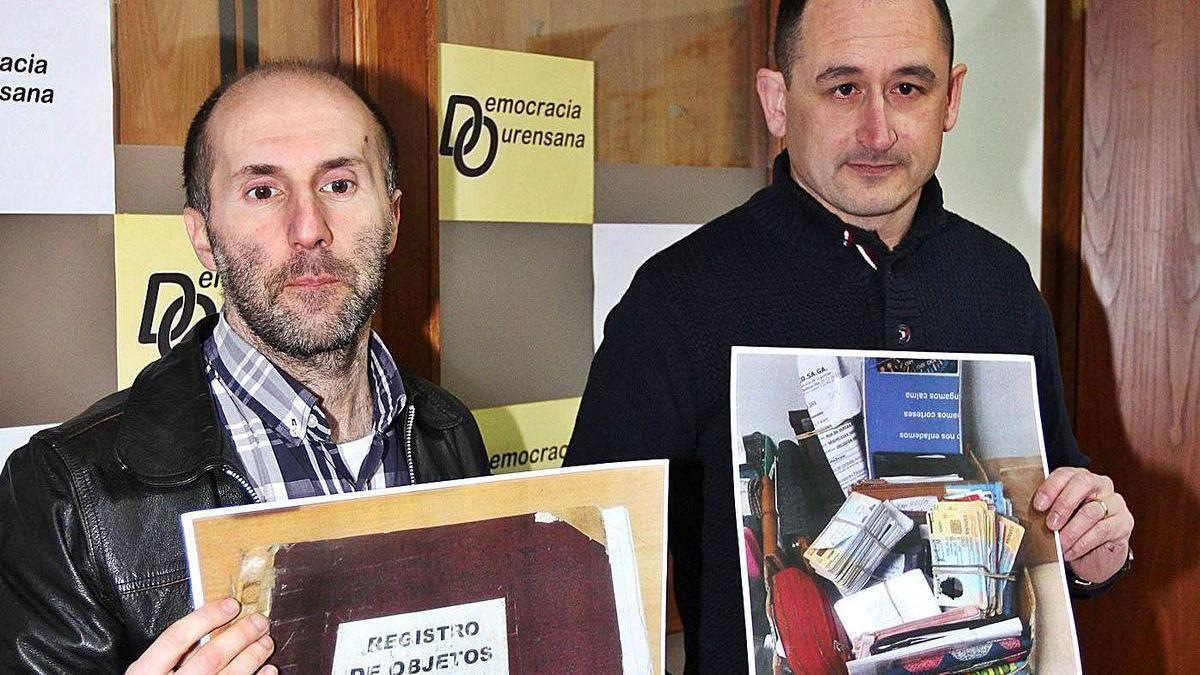 Telmo Ucha (derecha), en una foto con Jácome cuando eran ediles en la oposición.