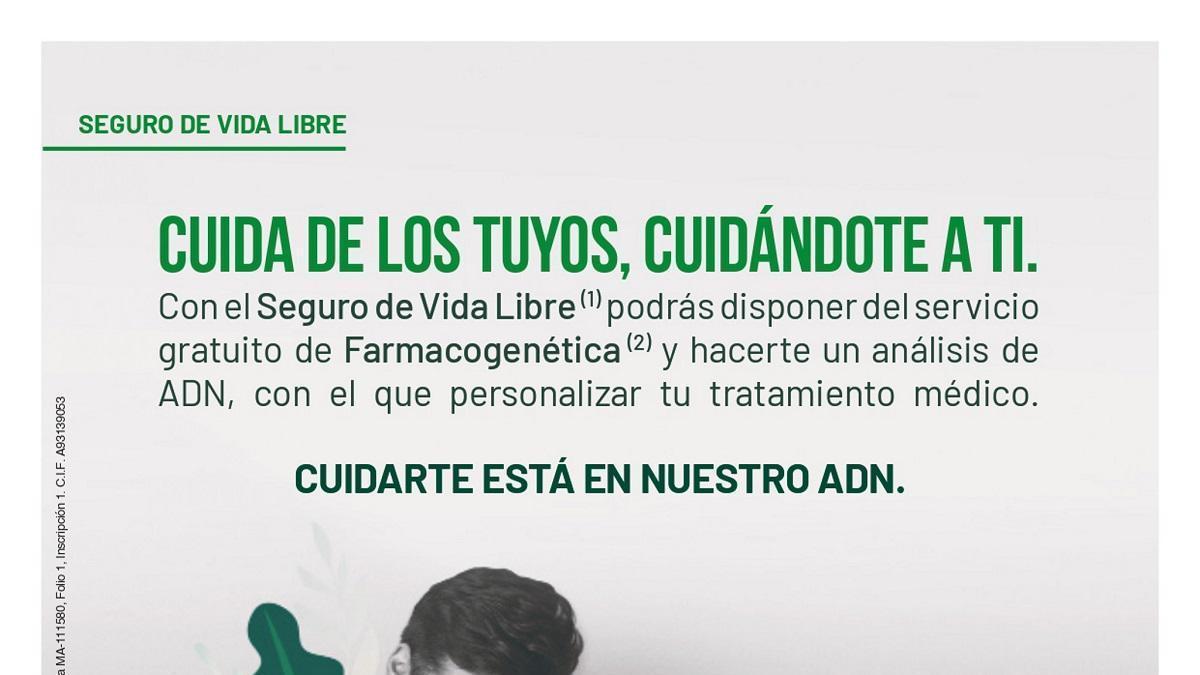 Unicaja incluye gratis la farmacogenética en sus seguros de vida libre