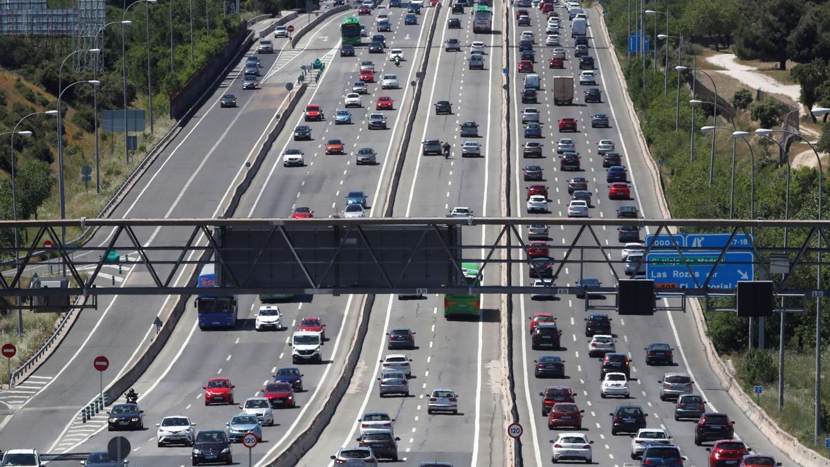 Tráfico en una de las salidas de Madrid