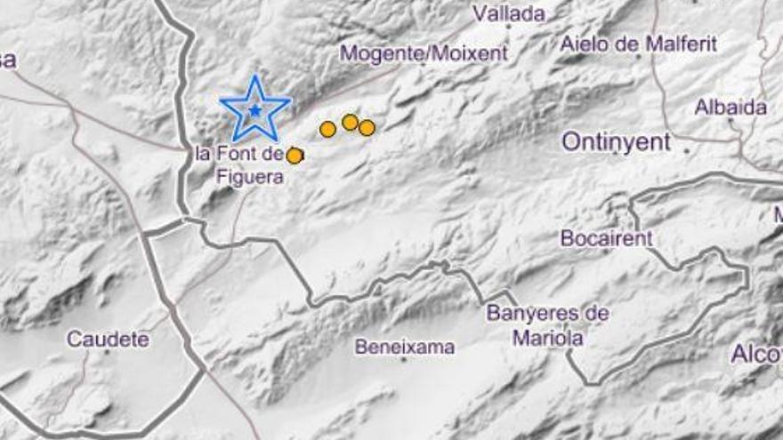 Moixent y La Font de Figuera sufren cinco terremotos