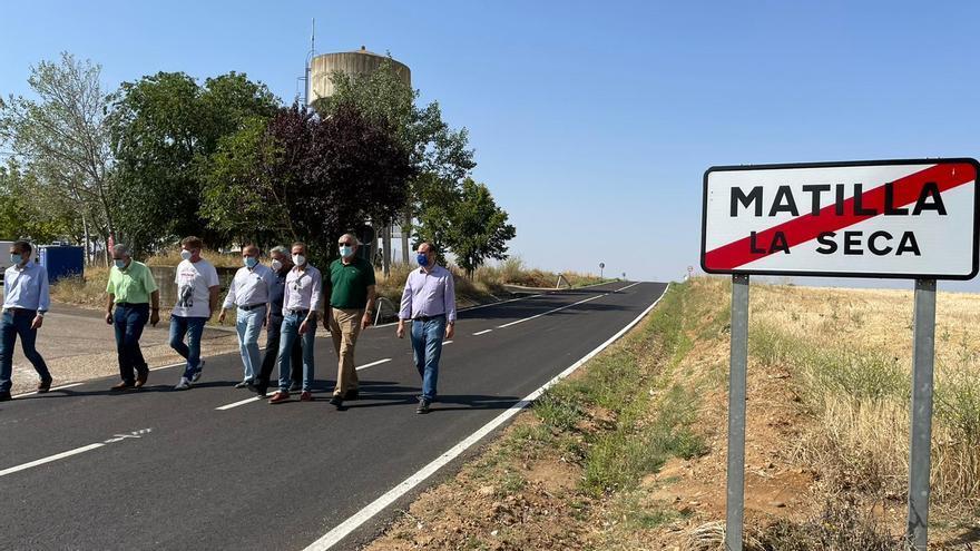 Matilla la Seca y Fresno de la Ribera disfrutan de una carretera renovada