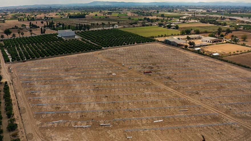 La Generalitat autoriza la construcción de la planta solar de Catral en la huerta tradicional y suelo inundable