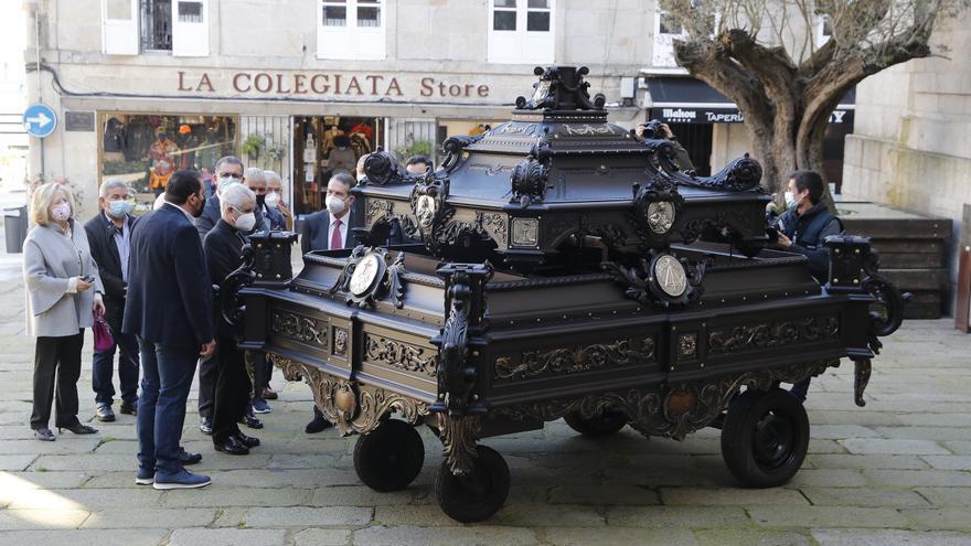 La carroza del Cristo de la Victoria ya luce como nueva