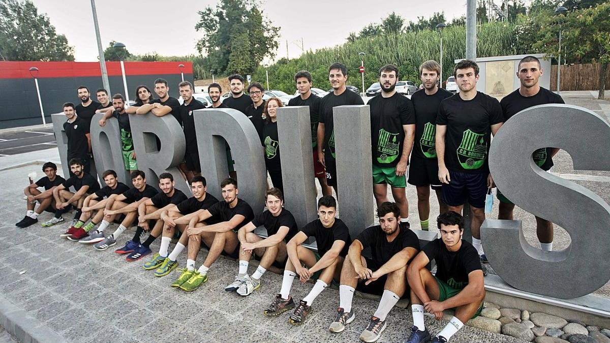 La plantilla del Bordils que ha competit aquesta temporada a Divisió d'Honor Plata i que serà la base de la del curs que ve