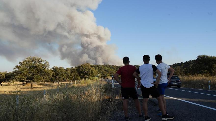 El incendio de El Calatraveño quema, por el momento, 370 hectáreas