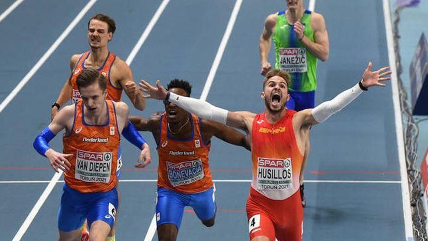 Husillos, campeón de Europa 'indoor' en 400 metros