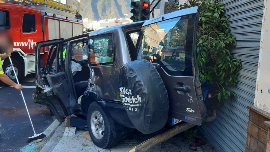 Aparatoso accidente en Güímar
