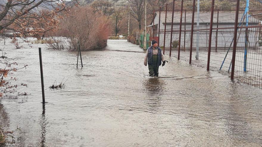 Inundaciones en Sanabria: el Tera avisa y anega el valle de Ribadelago