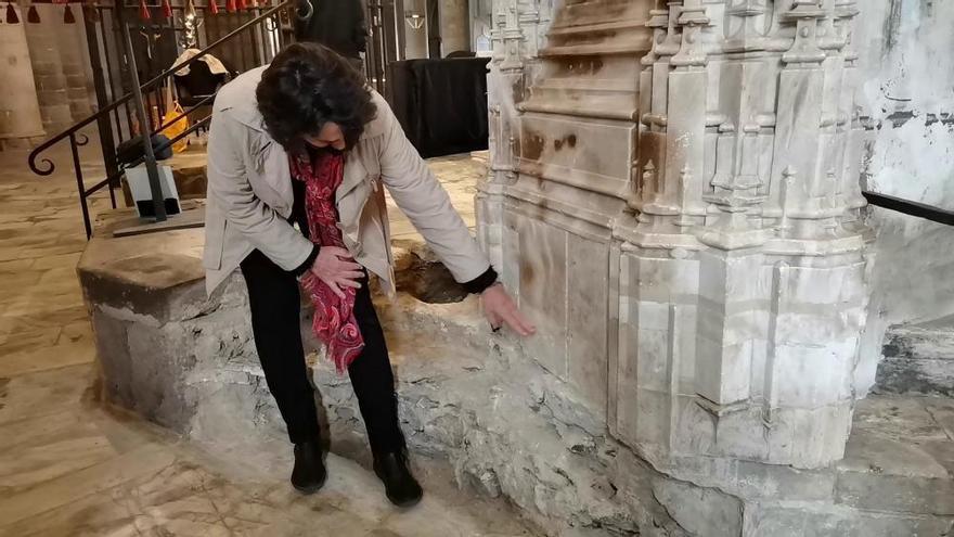 Localitzen la base original del retaule del segle XV de la Basílica de Castelló