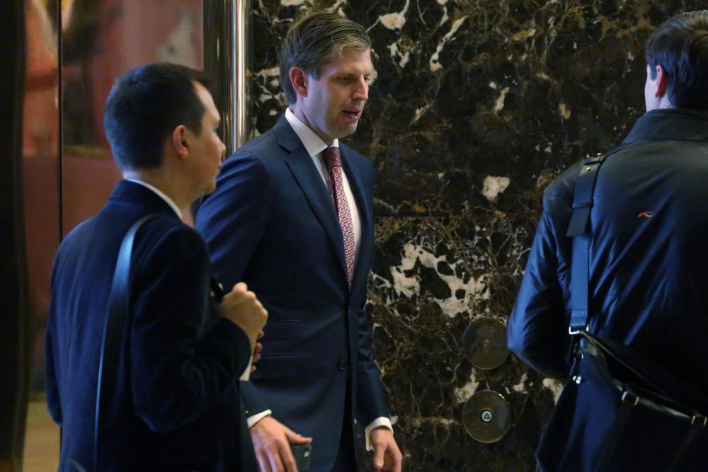 Eric Trump a su llegada a la Torre Trump.