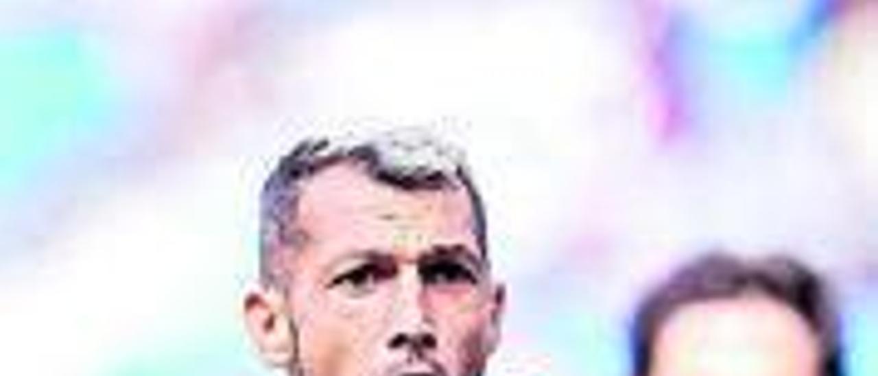 Stoichkov, del Eibar, celebra uno de sus goles a la Real Sociedad B.   LFP