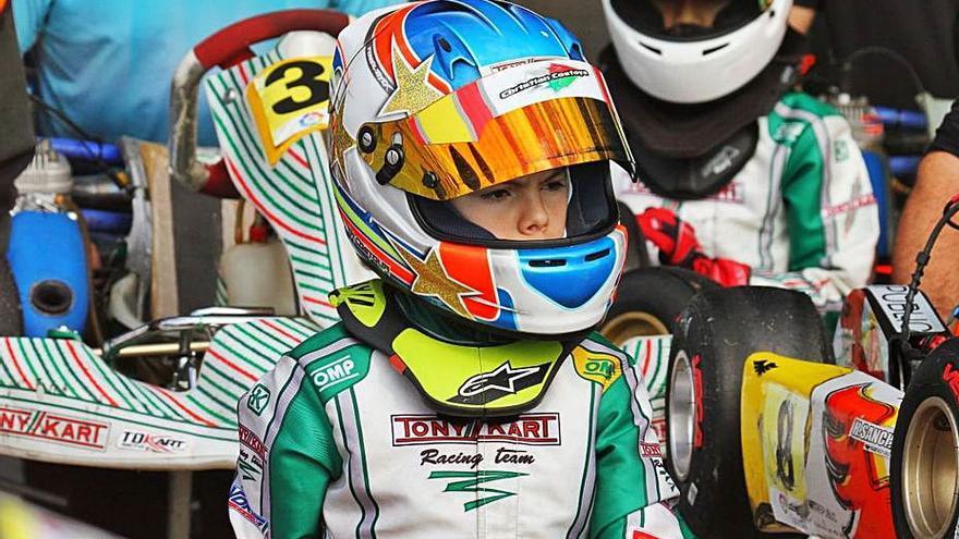 Christian Costoya seguirá en Italia pero medita el abandono de Tony Kart