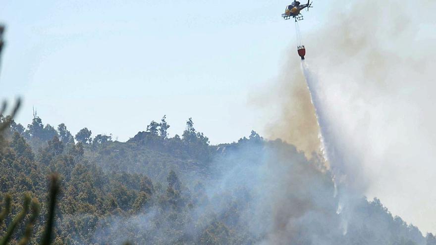 La faena de los incendios para cazadores y deportistas de Monte Xiabre