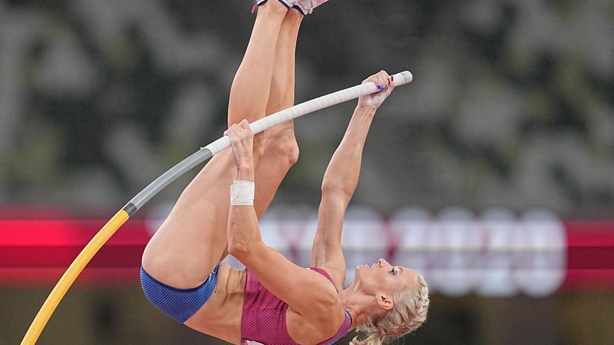 La estadounidense Katie Nageotte, campeona olímpica de salto con pértiga