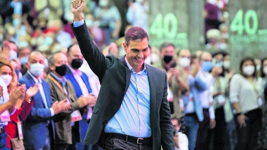 Sánchez apela a continuar en la senda de las conquistas sociales