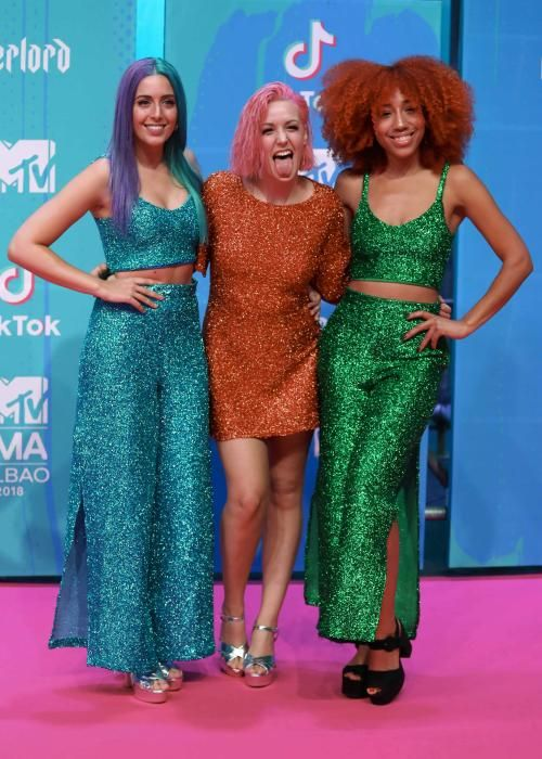 Sweet California arrives at the 2018 MTV Europe ...