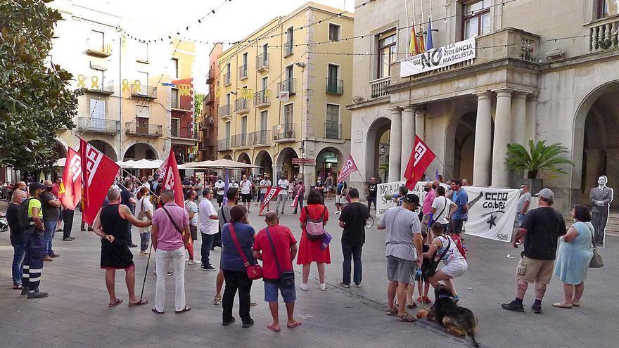 Concentració a Figueres «per un conveni digne»