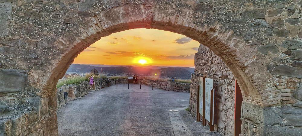 Posta de sol des del castell de Cardona