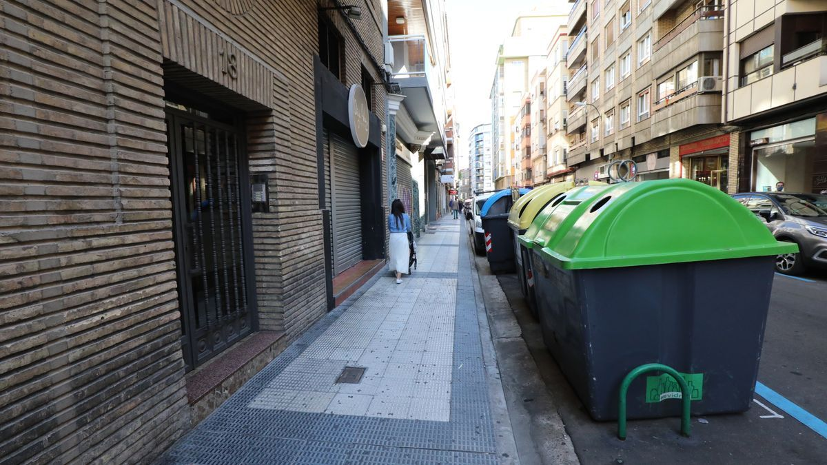 Lugar de la calle Dato en el que se produjo el crimen.