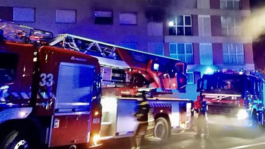 Muere un hombre en el incendio de una vivienda en Los Majuelos