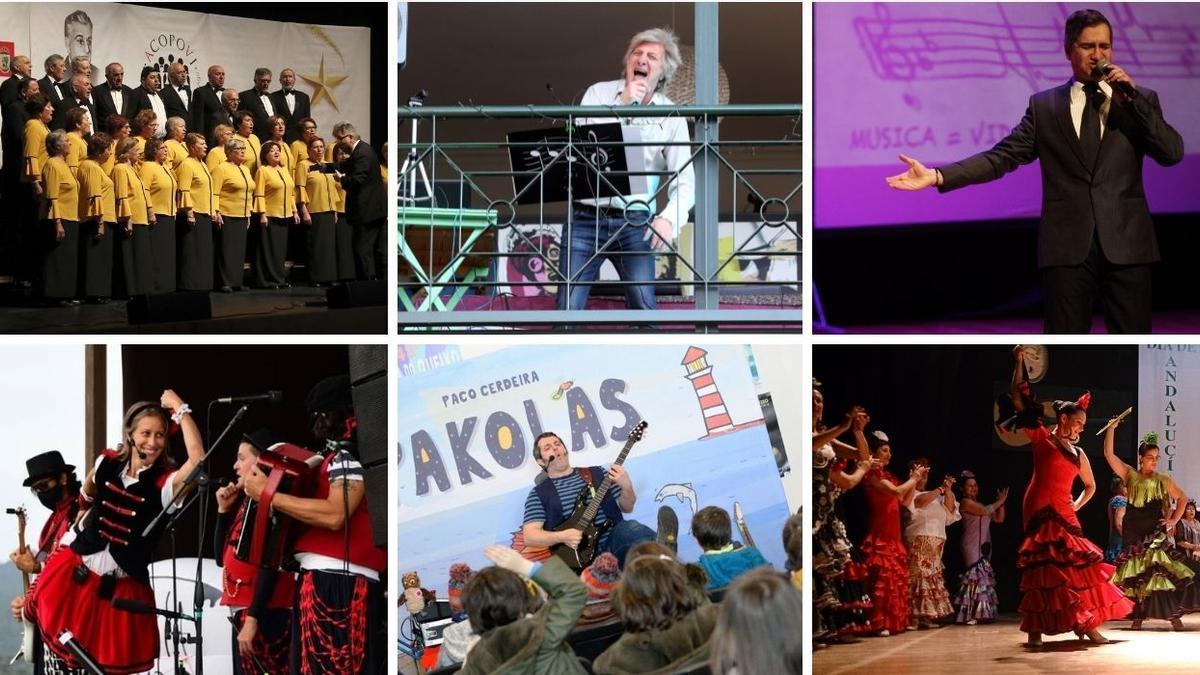 Varios de los conciertos programados en Vigo este fin de semana.