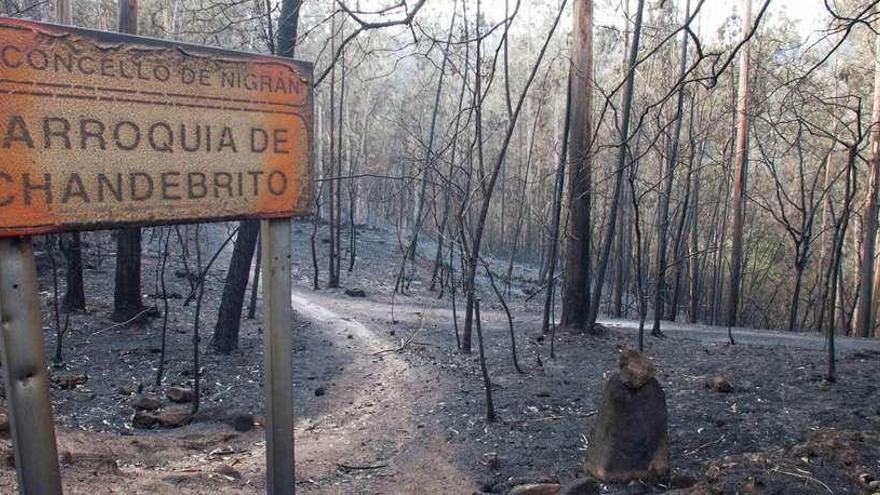 Chandebrito, la aldea que sobrevivió a las llamas