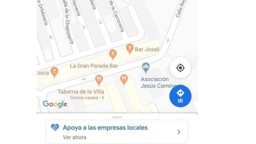 D'aquesta manera es pot donar suport a les empreses utilitzant Google Maps