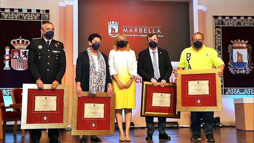 Marbella entrega sus Medallas en  un acto marcado por el coronavirus