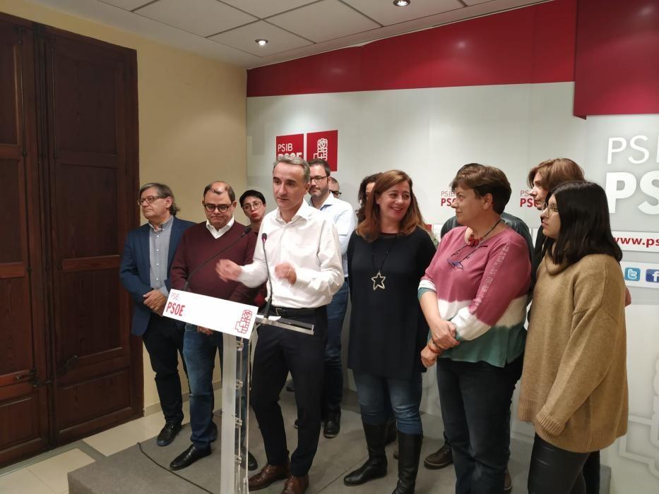 La noche electoral en Baleares en las sedes de los partidos