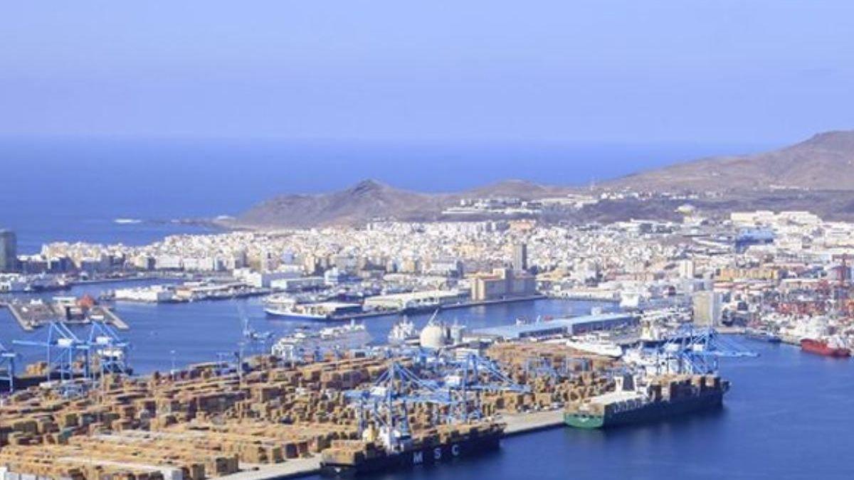 Aerial image of the Port of La Luz