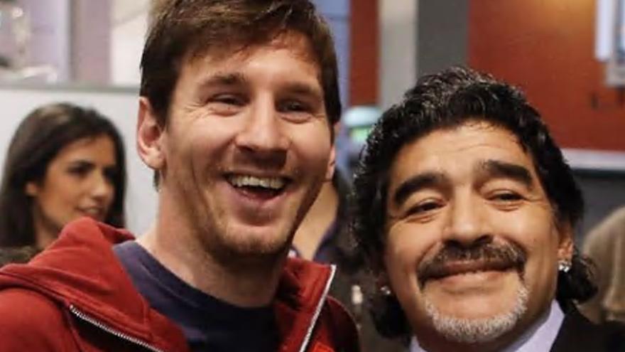 """Messi: """"Nos deja pero no se va. Diego es eterno"""""""