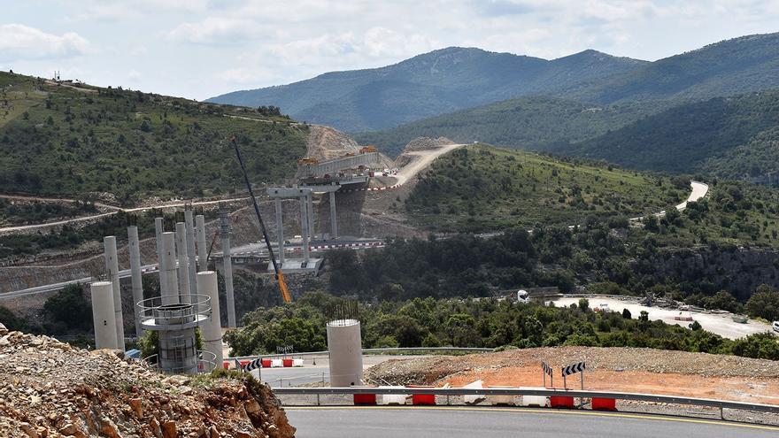 Cortes de tráfico por la obra en la N-232 en Morella