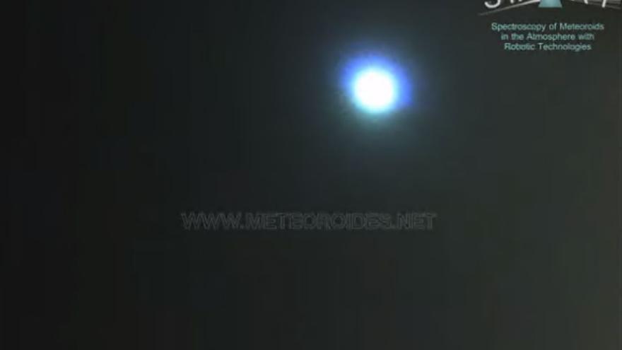 Detectan la caída de un meteorito en Badajoz